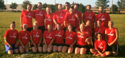 """""""Thank you Stratford Crane for sponsoring Team Red this year! We played hard and looked sharp!"""""""